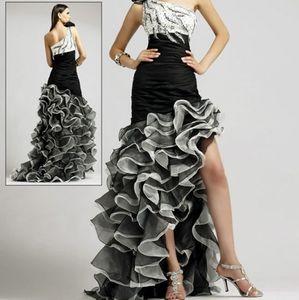 Blush Prom by Alexia Black & White Grad Dress